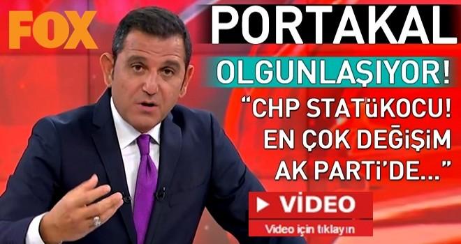 Fatih Portakal'dan CHP'ye: Statükocu