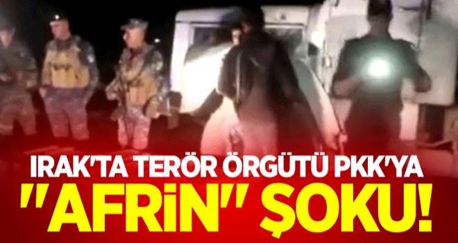 Irak'ta terör örgütü PKK'ya