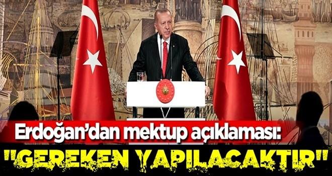 Başkan Erdoğan'dan Trump'ın mektubuna dair açıklama!