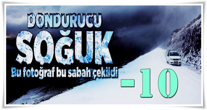 Erzurum'da sıcaklık eksi 10 dereceye düştü