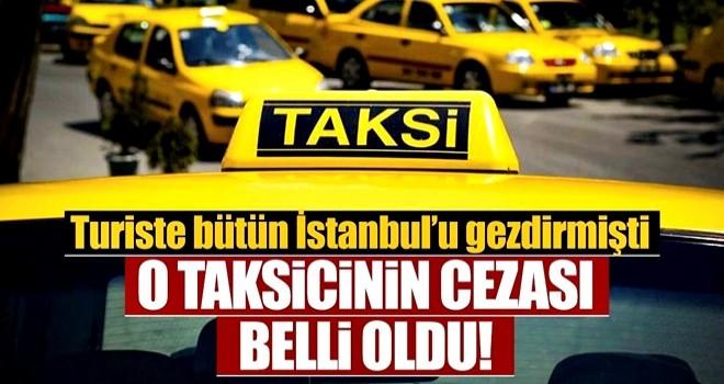 Suudi turisti, İstanbul'u dolaştırarak Sabiha Gökçen Havalimanı'na götüren taksici hakkında hapis cezası