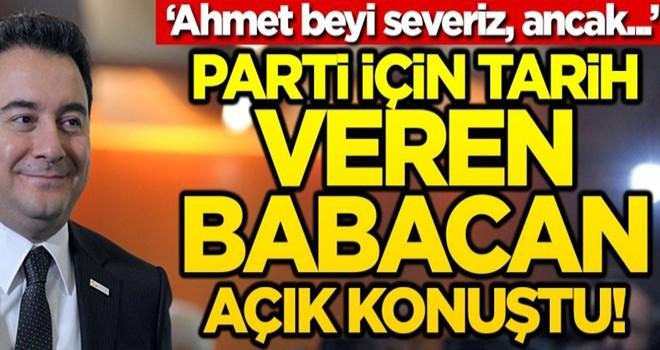 Parti için tarih veren Babacan açık konuştu!