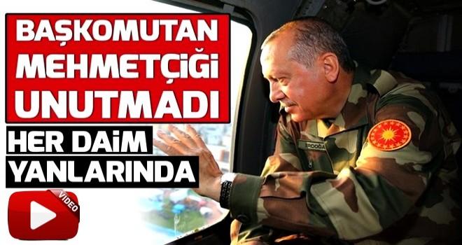 Başkan Erdoğan yeni yılda Mehmetçiği unutmadı .