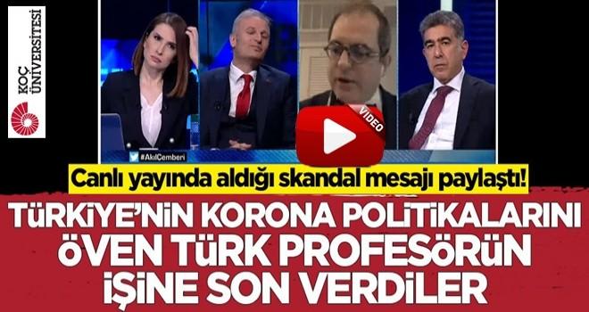 Prof Dr. Mehmet Çilingiroğlu canlı yayında aldığı mesajı paylaştı! Koç Üniversitesi işine son verdi