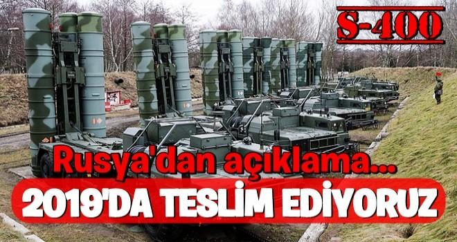 Rusya: S-400'ü Türkiye'ye 2019 sonuna doğru göndereceğiz