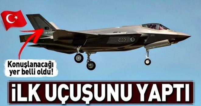 Türkiye'ye gelen F-35 ilk uçuşunu yaptı .