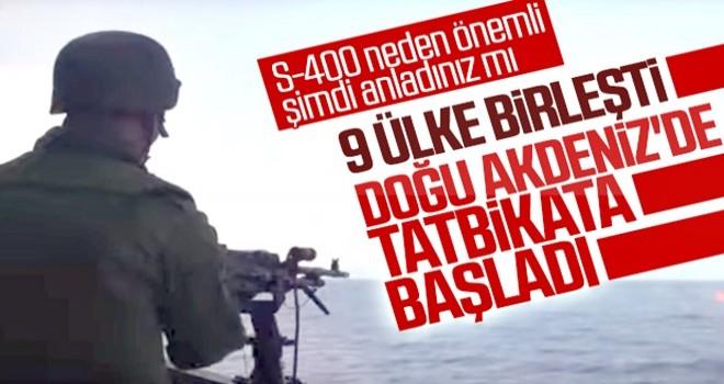 9 ülke Doğu Akdeniz'de tatbikat düzenledi