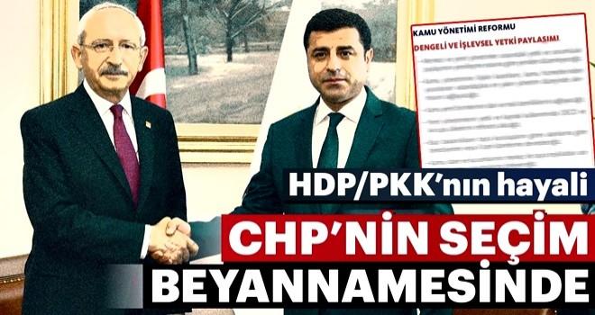 HDP/PKK hayali CHP seçim beyannamesinde