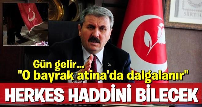 Mustafa Destici, Atina'da Türk bayrağı yakanlara çok sert çıktı