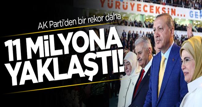 AK Parti'den bir rekor daha! Sayı 11 milyona yaklaştı