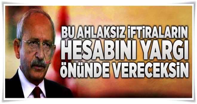 Bekir Bozdağ: Kılıçdaroğlu, iftirasının hesabını yargı önünde verecektir  .