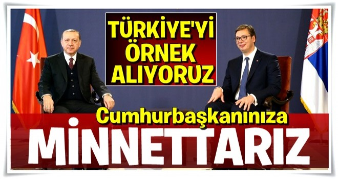 Cumhurbaşkanı Erdoğan ve Sırbistan Cumhurbaşkanı'ndan önemli açıklamalar