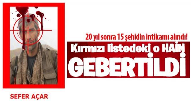Kırmızılı Listedeydi... 1998'deki 15 şehidin verildiği saldırının faili öldürüldü