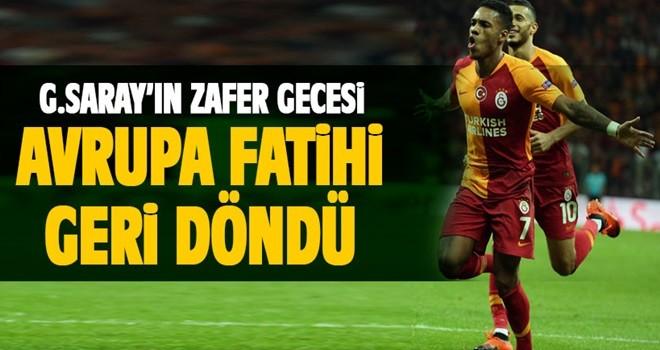 Galatasaray'ın zafer gecesi.... Avrupa Fatihi geri döndü