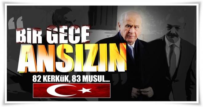 Bahçeli: Bir gece ansızın gelmek Türk Milleti için zor değildir