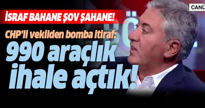 CHP'li Murat Emir'den bomba itiraf: 990 araçlık ihale açtık .