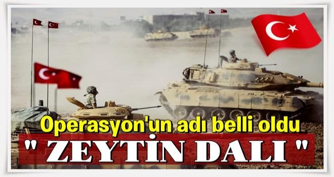 TSK Afrin operasyonun adını koydu