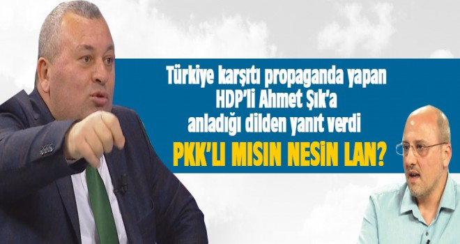 MHP'li Cemal Enginyurt'tan HDP'li Ahmet Şık'a: PKK'lı mısın nesin lan?