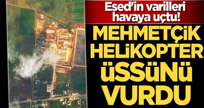 TSK helikopter üssünü vurdu, Esed'in varilleri havaya uçtu!