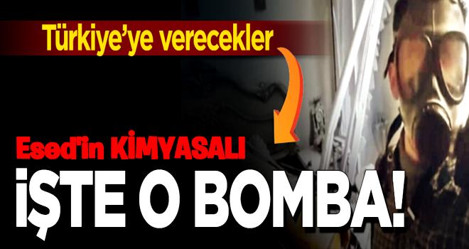 İşte Esed'in kimyasal bombası! Parçaları Türkiye'ye verecekler