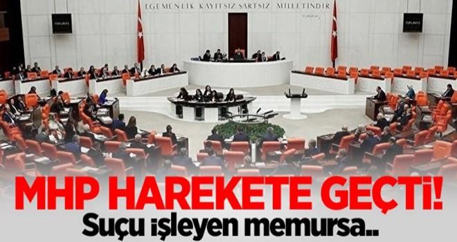 MHP'den, 'Cinsel saldırı' için yasa teklifi