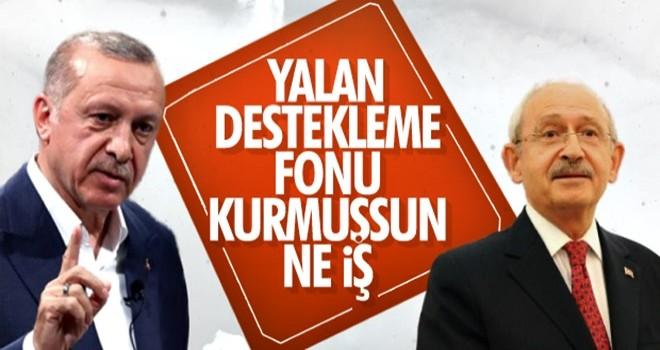 Başkan Erdoğan: CHP 'yalan destekleme fonu' oluşturdu