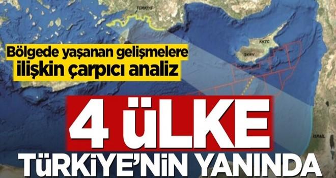 Bölgede yaşanan gelişmelere ilişkin çarpıcı analiz! 4 ülke Türkiye'nin yanında
