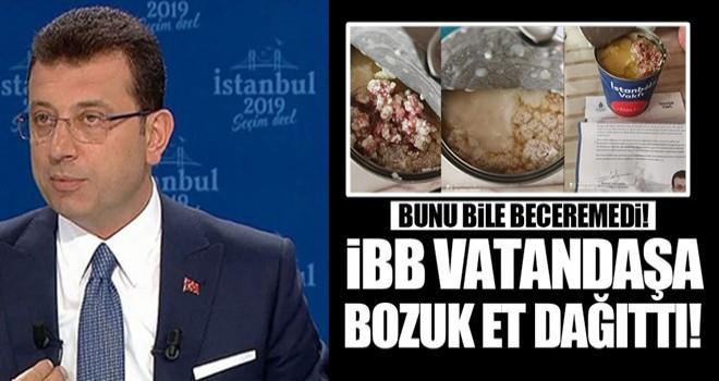 İBB vatandaşa bozuk et dağıttı!