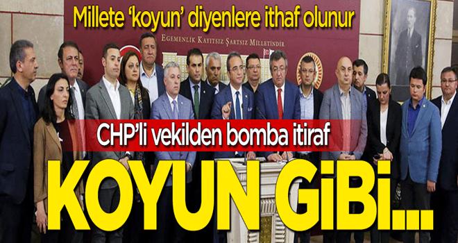 CHP'li vekilden bomba itiraf: Kurbanlık koyun gibi...