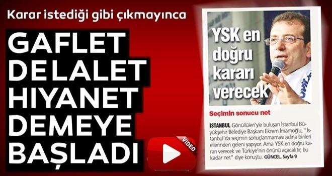 Ekrem İmamoğlu, YSK'nın İstanbul kararının ardından çark etti: YSK'yı kınıyorum.