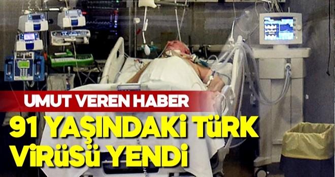 İngiltere'de yaşayan 91 yaşındaki Türk koronavirüsünü yendi