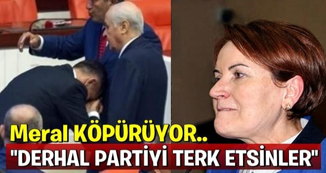 Meral Akşener'den 'el öpme' tepkisi: Genel Başkan'ın namusuna...