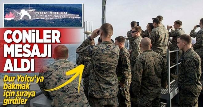 ABD askerleri Dur Yolcu'ya dürbünle baktı