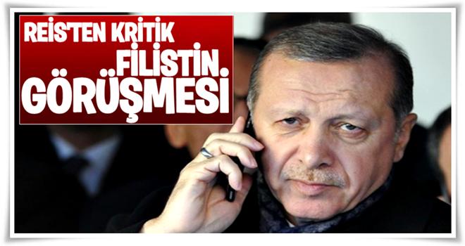 Cumhurbaşkanı Erdoğan Filistin Devlet Başkanı ile görüştü