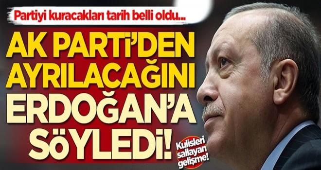 Yeni partiyle ilgili kulisleri sallayan gelişme! O isim Erdoğan ile görüşme yaptı
