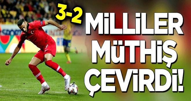 Milliler müthiş çevirdi: 3-2!