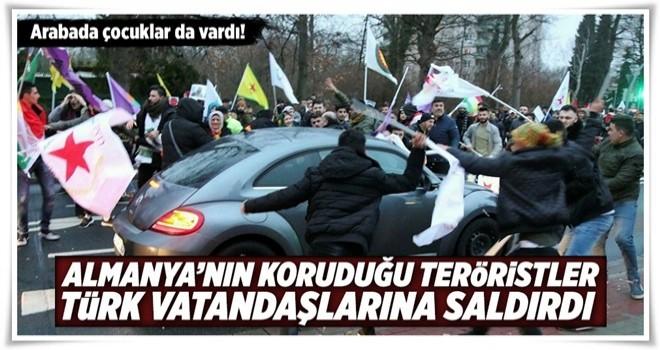 PKK destekçileri Almanya'da Türk vatandaşına saldırdı .