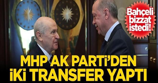 MHP AK Parti'den iki transfer yaptı
