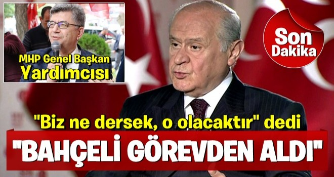 MHP Kahramanmaraş Milletvekili Sefer Aycan, Genel Başkan Yardımcılığı görevinden alındı
