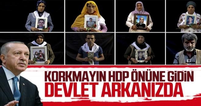 Cumhurbaşkanı Erdoğan'dan Diyarbakır'daki annelere destek mesajı