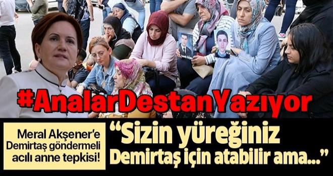 Akşener'e Demirtaş göndermeli acılı anne tepkisi: