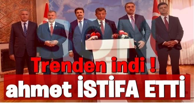 İhracı istenen Davutoğlu, AK Parti'den istifa etti