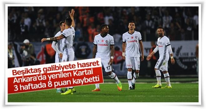 Beşiktaş deplasmanda Gençlerbirliği'ne yenildi