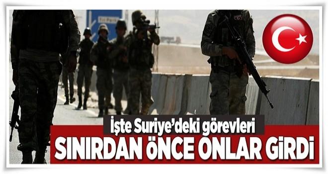 Türk keşif gücü sınırı geçti  .