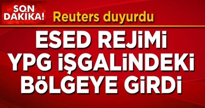 Katil Esed rejiminin YPG işgalindeki bölgeye girdiği iddia edildi