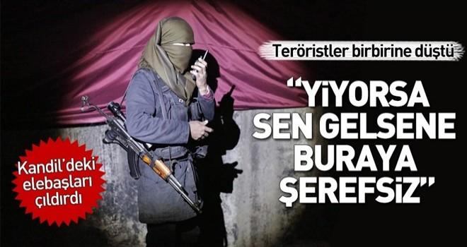 PKK'lı teröristler birbirine girdi .
