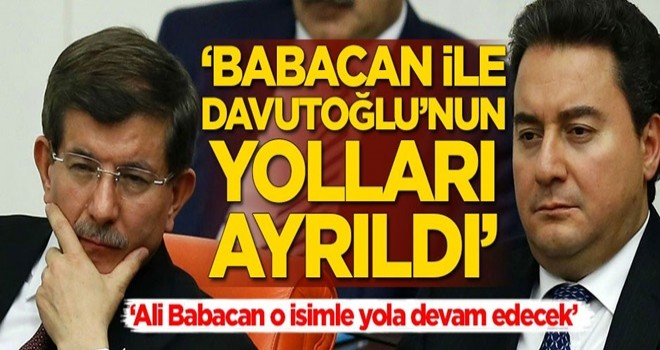 Kulisleri sallayan gelişme: Ali Babacan ile Ahmet Davutoğlu'nun yolları ayrıldı!