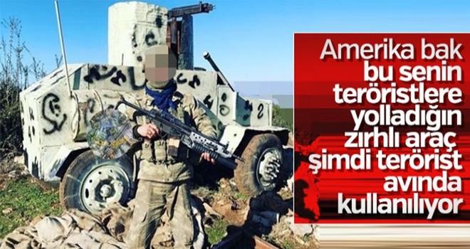Terör örgütü YPG'nin zırhlı aracı ele geçirildi