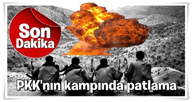 PKK'nın kampında patlama: Çok sayıda terörist öldü
