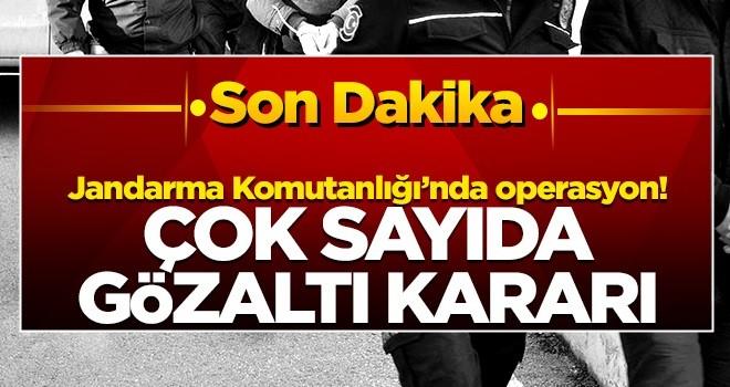 Jandarma Komutanlığı'nda operasyon: Çok sayıda gözaltı kararı
